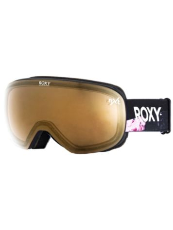 Roxy Popscreen True Black Blooming Party Goggle