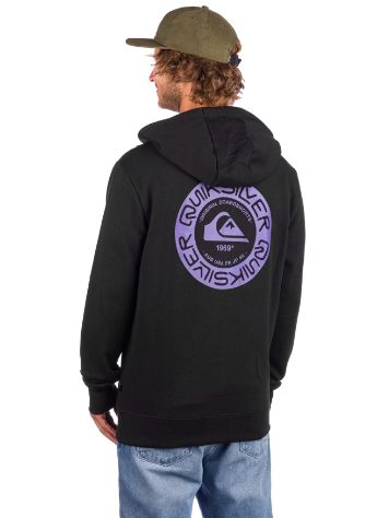Quiksilver Time Circle Screen Hoddie com fecho