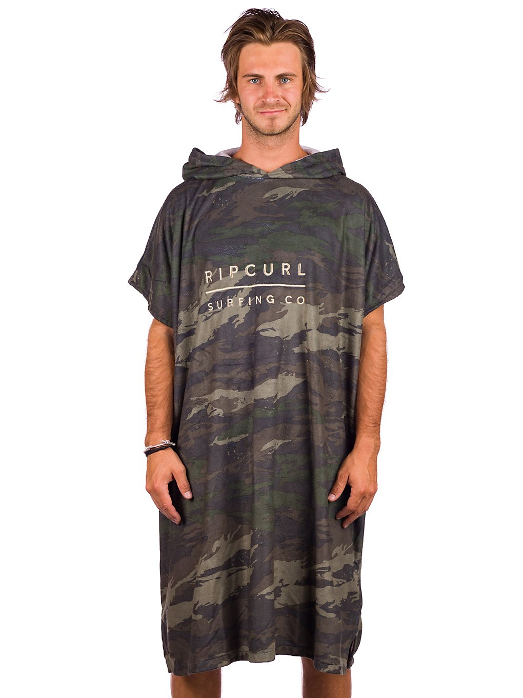 Rip Curl Mix Up Hooded Surf Poncho green