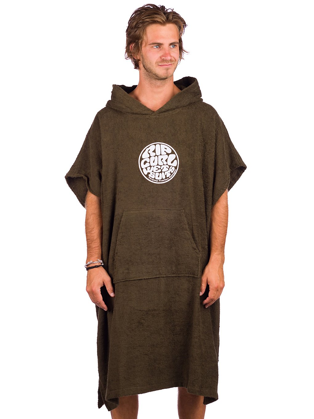 Rip Curl Wet As Hooded Surf Poncho dark olive