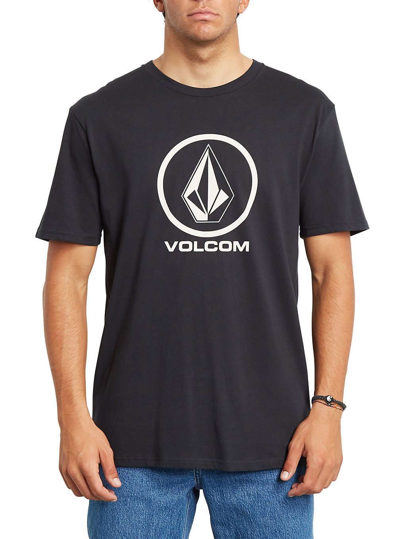 volcom crisp stone bsc t-shirt black