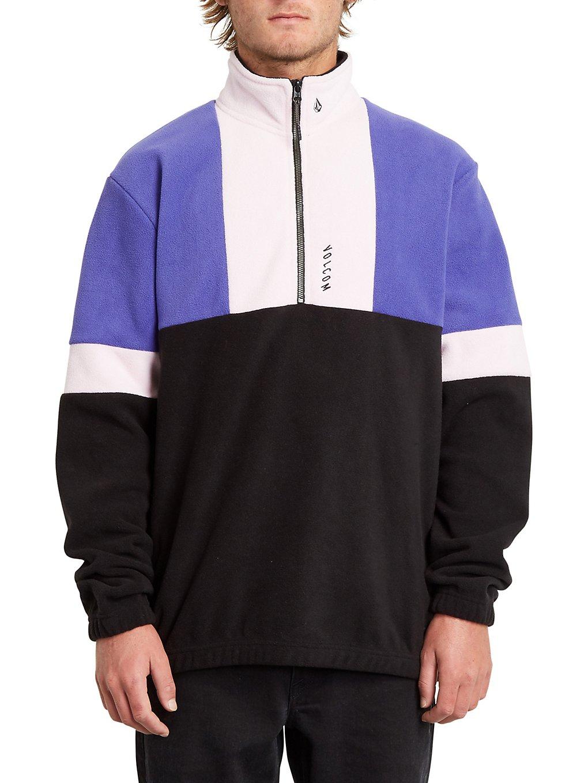 volcom rekker polar crew sweater liberty purple