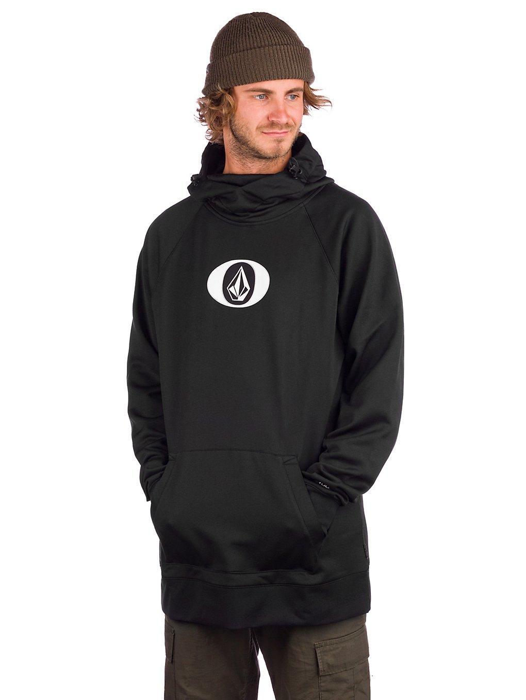 volcom hydro shred hoodie black