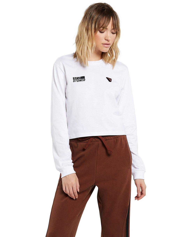 volcom gangstone long sleeve t-shirt white