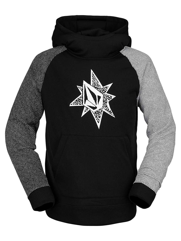 volcom riding hoodie black
