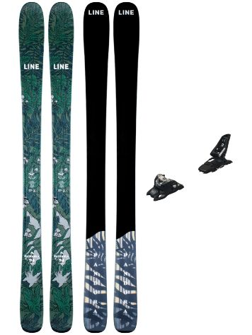 Line Pandora 94mm 158 + Squire 11 ID 2021 Ski Set