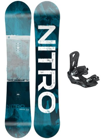Nitro Prime Overlay Wide 159 + Staxx L 2021 Snowboardsæt