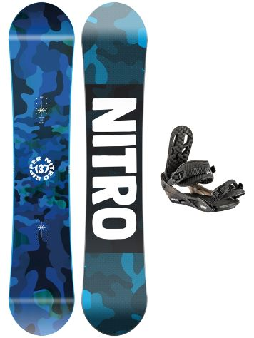 Nitro Ripper 132 + Charger 2021 Snowboardsæt