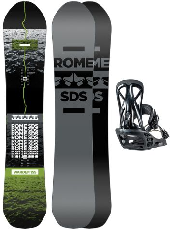 Rome Warden 158 + United L 2021 Set de Snowboard