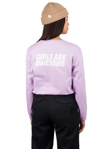 Girls Are Awesome When In Doubt T-Shirt manches longues
