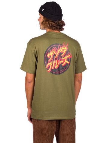 Santa Cruz Flaming Japanese Dot T-Shirt
