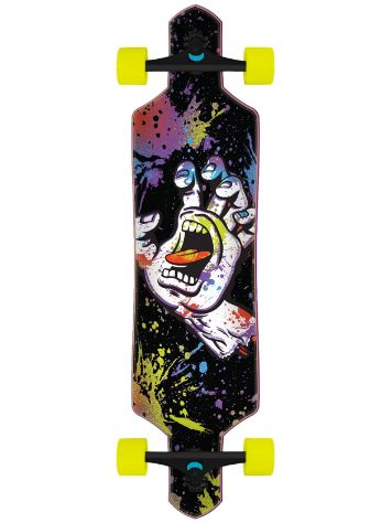 "Santa Cruz Hand Splatter Drop Thru 9"" Skateboard"
