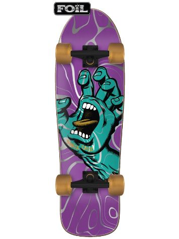"Santa Cruz Screaming Hand Ooze 80s Cruzer 9.7"" Skate Completo"