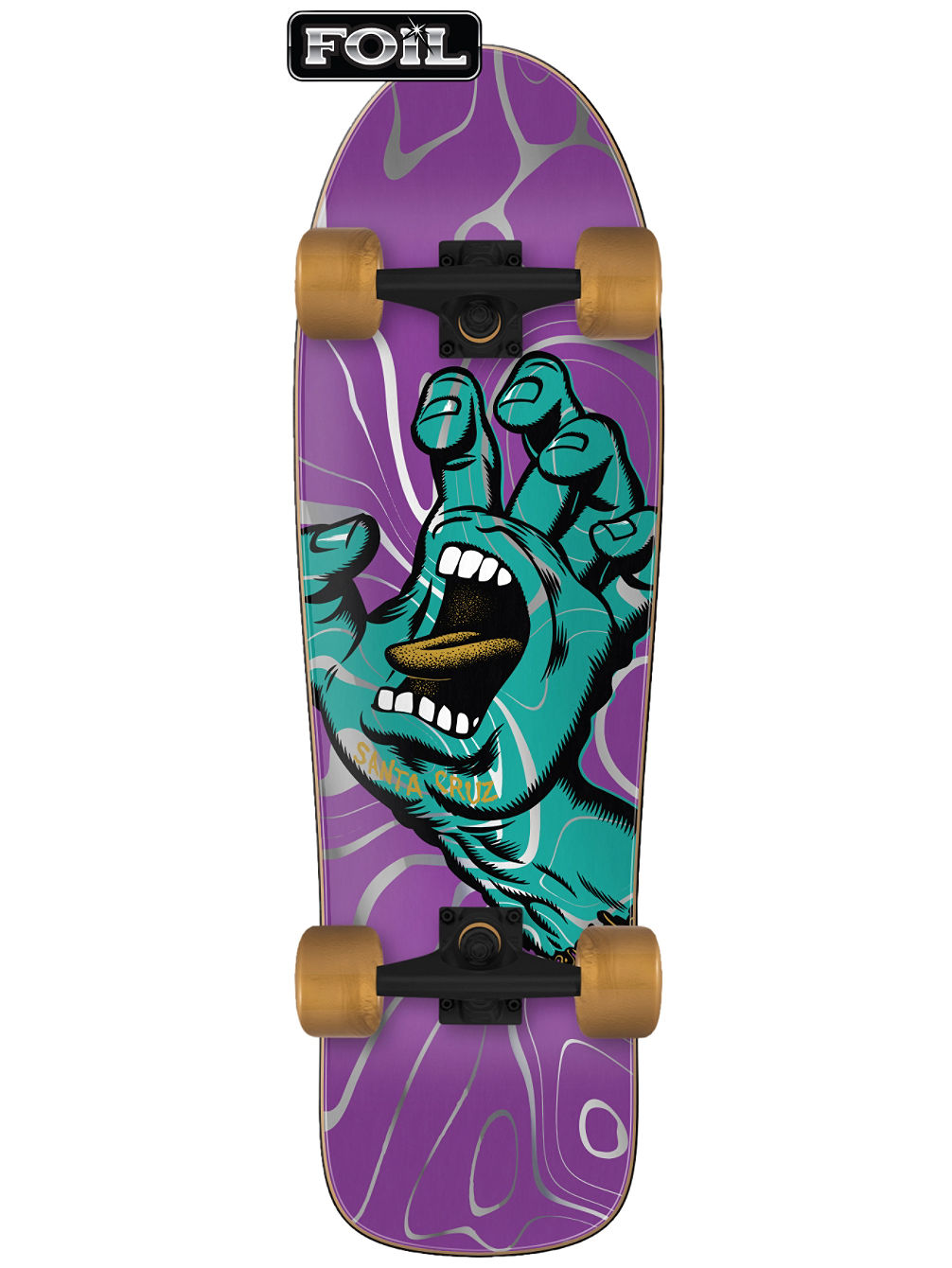 "Screaming Hand Ooze 80s Cruzer 9.7"" Skate Completo"