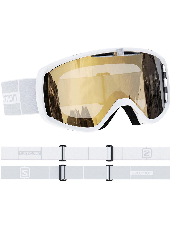 Salomon Aksium Access White Goggle gold