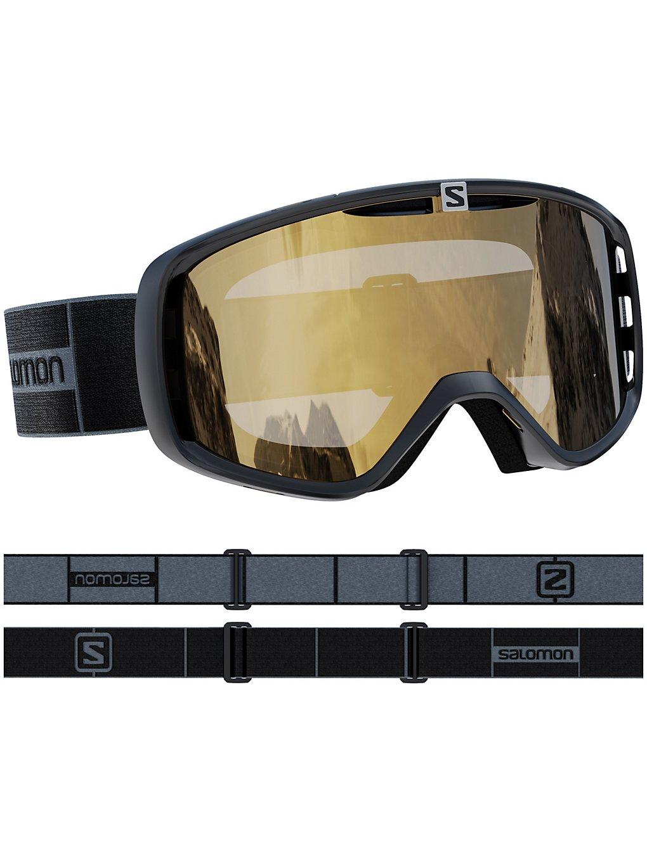 Salomon Aksium Access Black Grey Goggle flash gold