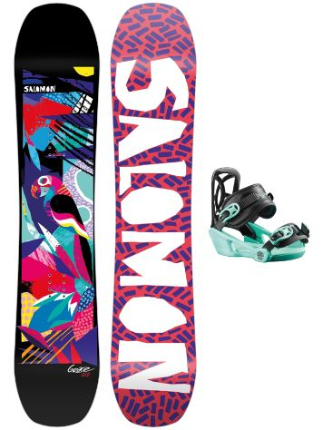 Salomon Grace 130 + Goodtime XS 2021 Snowboard-Set