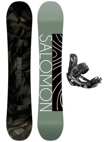 Salomon Pulse LTD 162W + Rhythm L 2021 Conjunto Snowboard