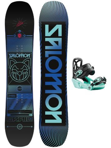 Salomon Grail 120 + Goodtimes XS 2021 Snowboard-Set