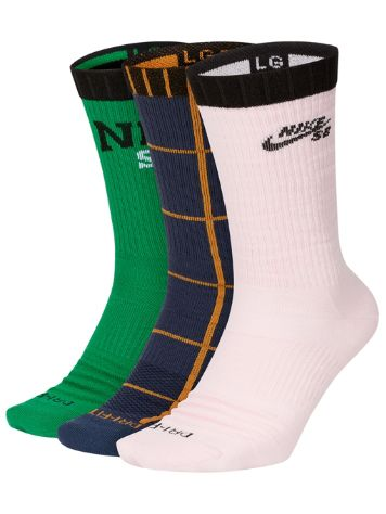 Nike SB Everyday Max LW Skate Crew (3 Pk) Socks