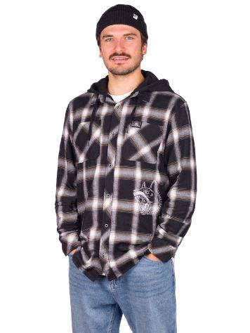 Lurking Class K-9 Hooded Flannel Camisa