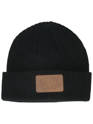 Blue Tomato Brown Pu Faux Patch Beanie