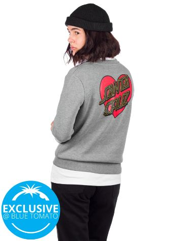 Santa Cruz Heart Outline Crew Sweater