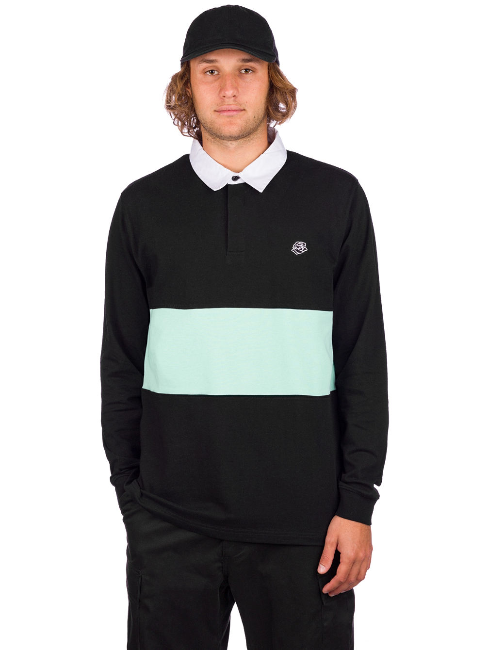 Blocked Polo Longsleeve T-Shirt