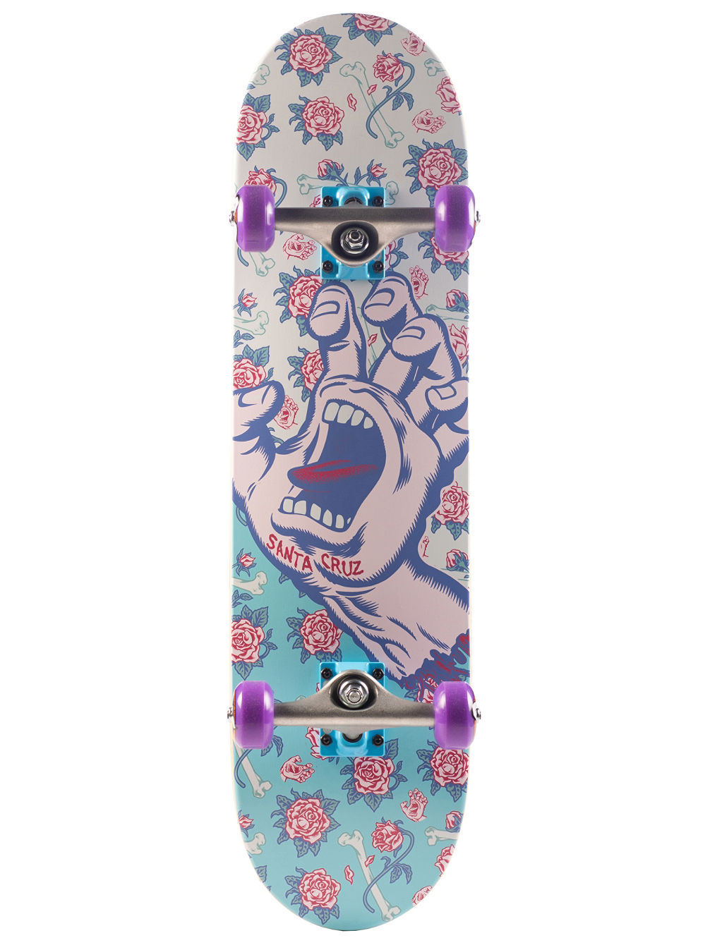 "Floral Decay Hand Mini 7.75"" Skate Completo"