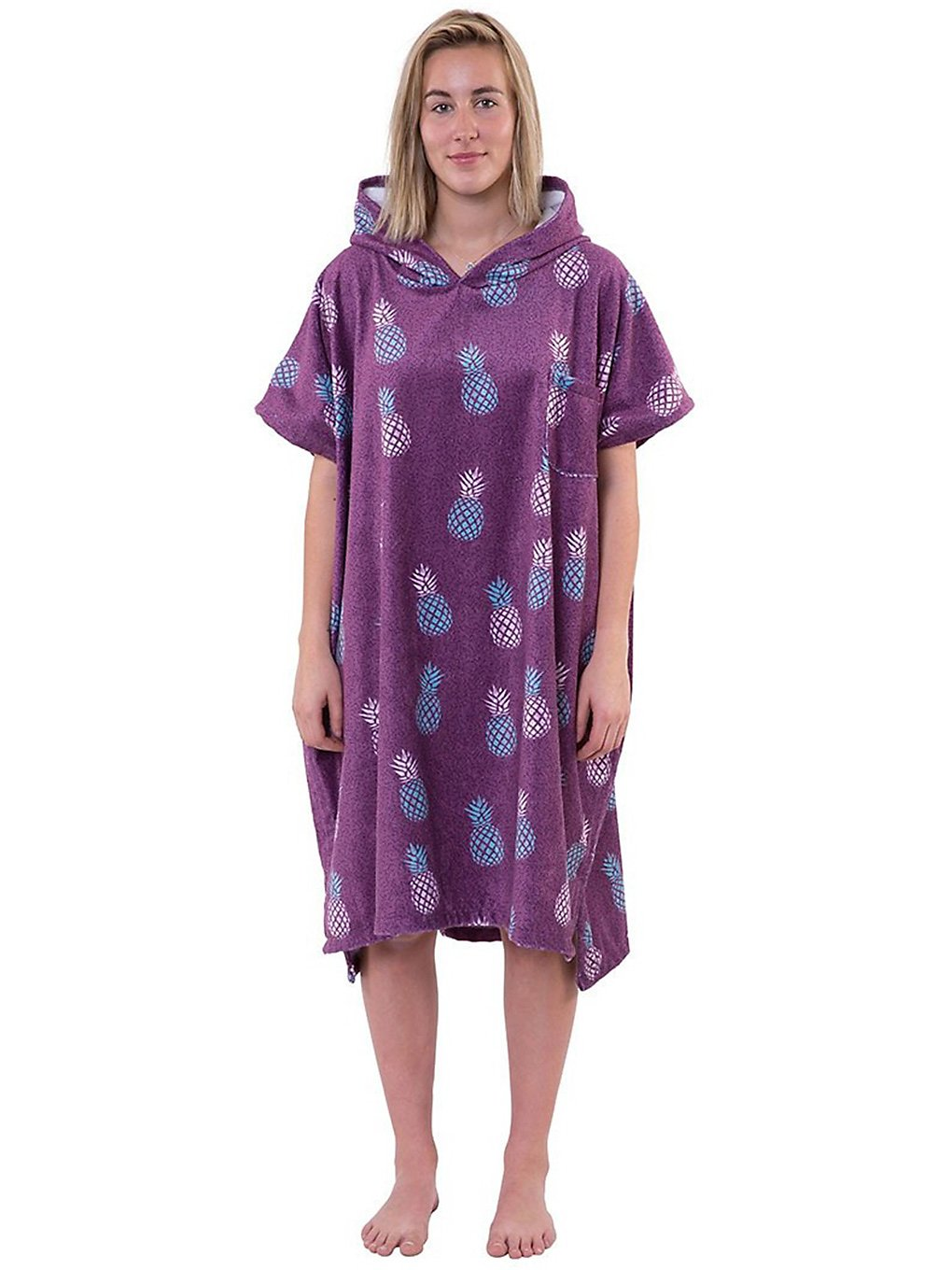 After Pineapple Surf Poncho purple
