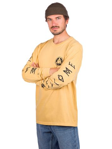 Welcome Tali Scrawl Garment Dyed Long Sleeve T-Shirt