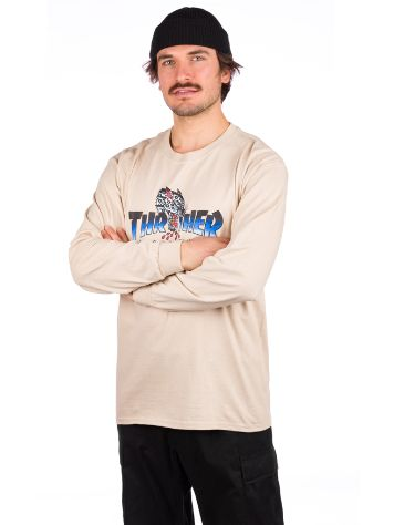 Thrasher Leopard Mag Long Sleeve T-Shirt