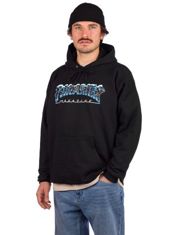 Thrasher Black Ice Pulover s kapuco
