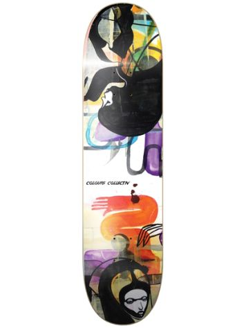 "Colours Will Barras Grunge Queen Of Hearts 8.0"" Skateboard deck"