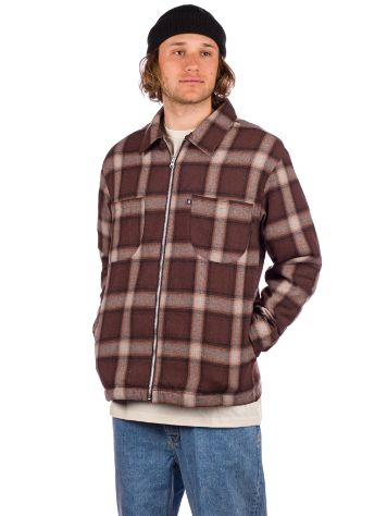 Pass Port Quilted Zip-Up Flannel Jas