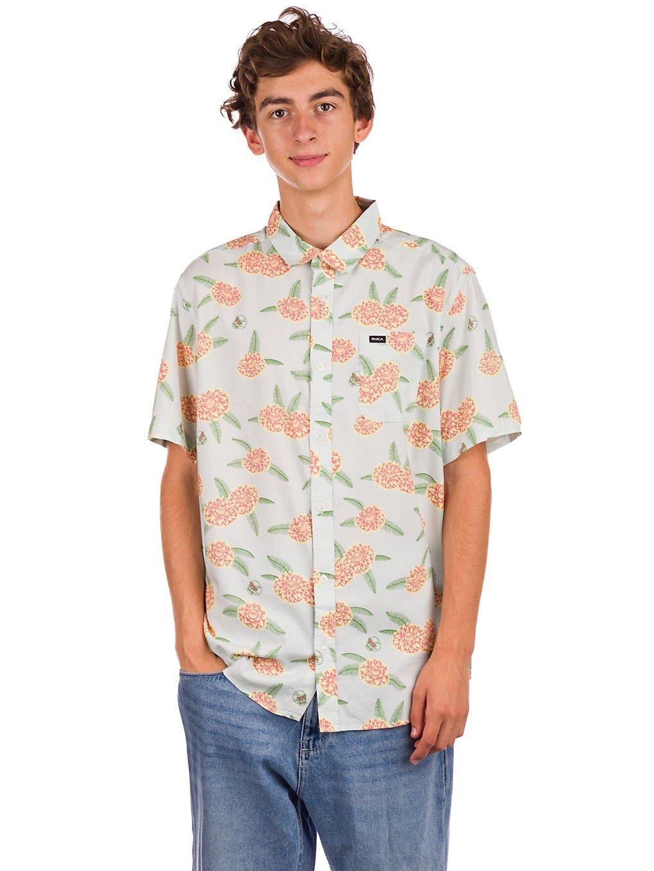 RVCA Luke P Floral Shirt green tea