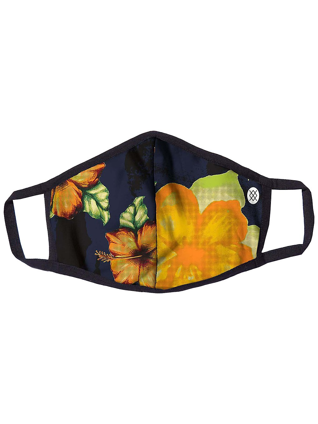 Stance Hibiscus Smear Cloth Mask navy