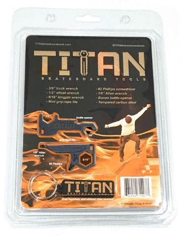 Titan Skateboard Tools Key Chain Náradí