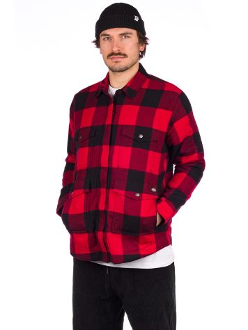 Dickies Flannel Sherpa Lined Long Sleeve T-Camicia