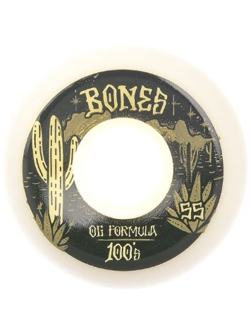 Bones Wheels 100's OG Desert West 100A Sidecut 55mm Rollen