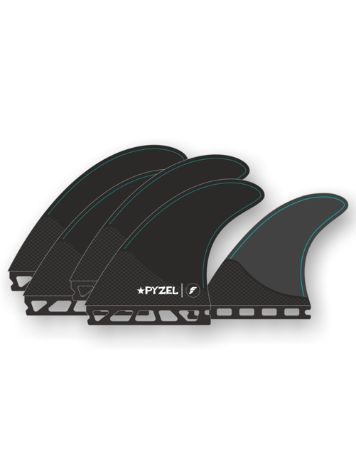 Futures Fins Quad Thruster 5 Pyzel M Honeycomb Finne Set