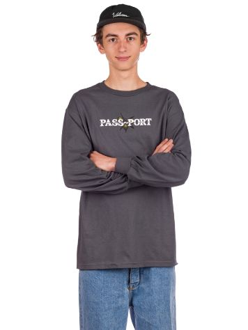 Pass Port Olive Puff Print Long Sleeve T-Shirt