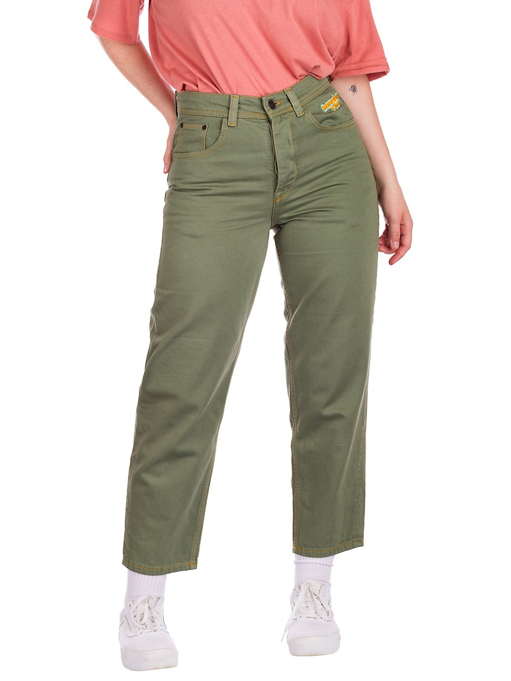 Homeboy X-Tra BAGGY Twill Pants olive