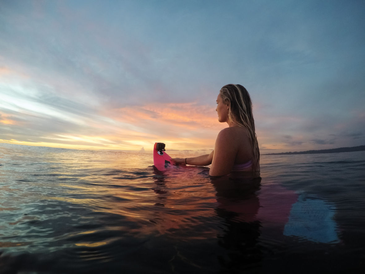 GoPro HERO6 Black and a surfboard are perfect for catching waves