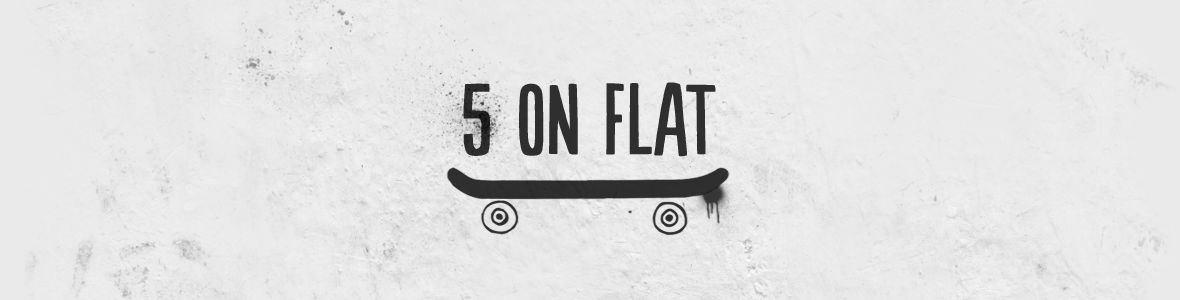Five on flat Skateboard Contest