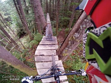 Action Camera GoPro with Aaron Chase at Whistler