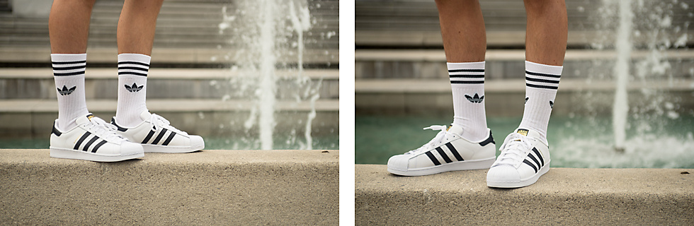 adidas Originals Superstar Sneakers & adidas Originals Solid Crew 3 Socks