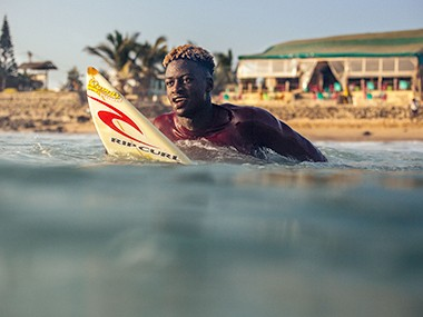 Surfing in Africa