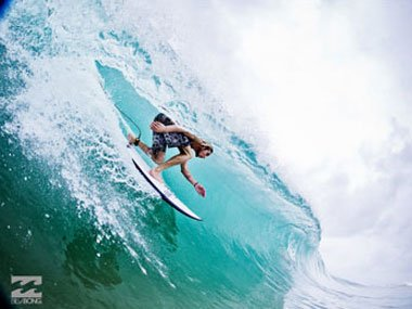 Surfing with Billabong