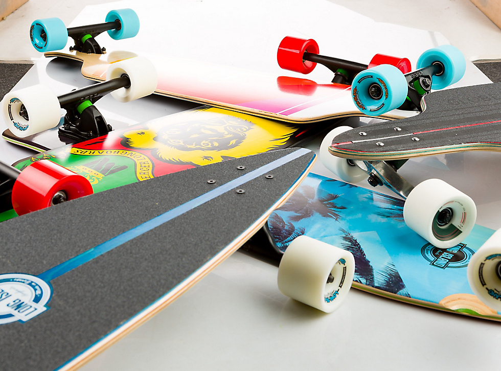 Longboards with different shapes